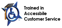 Trained in Customer Service for Disabled
